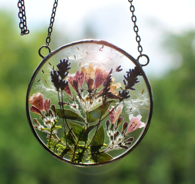 MARIAELA Pressed Flower Hanging, $37 @etsy.com