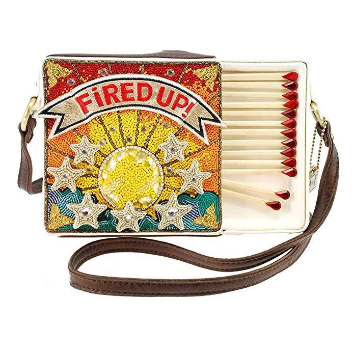 Mary Frances Fired Up Embellished Match Book Crossbody Handbag Purse, $297 @amazon.com