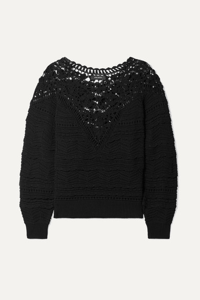 Isabel Marant, Camden crocheted cotton sweater - WAS $1,025.00,NOW $512.50, 50% OFF @netaporter.com