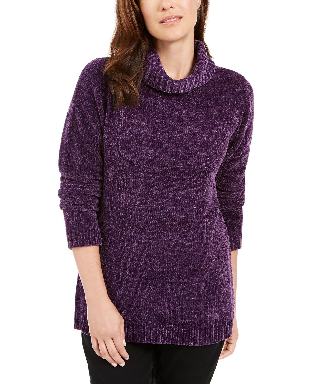 Karen Scott Chenille Mock-Neck Sweater, WAS $46.50 - NOW $17.99 (61% off) @macys.com