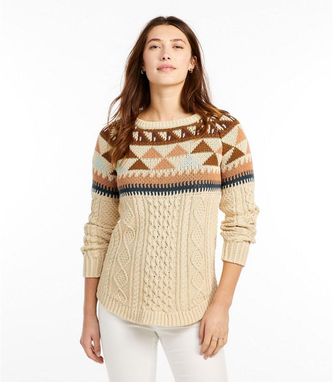 Signature Cotton Fisherman Tunic Sweater, Fair Isle, $129 - but 30% off with code STOCKUP - Pin: 2020 @llbean.com