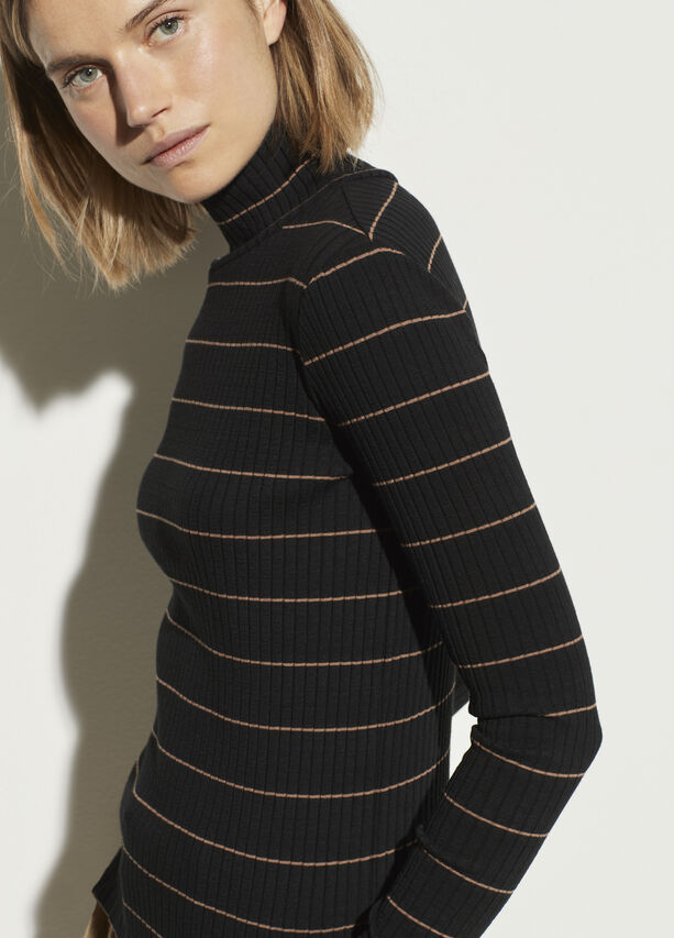 Vince Striped Rib Turtleneck, WAS $125, NOW $75 @vince.com
