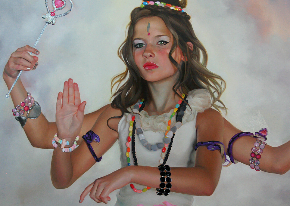Sweetness Ever Ending, Custom Painting By Gretchen Ryan - click image to inquire for rates