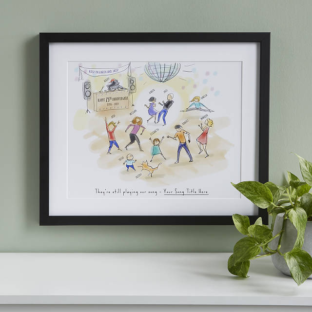 Personalized Family Dance Party Art by Patricia Carlin, $75-$125 @uncommongoods.com