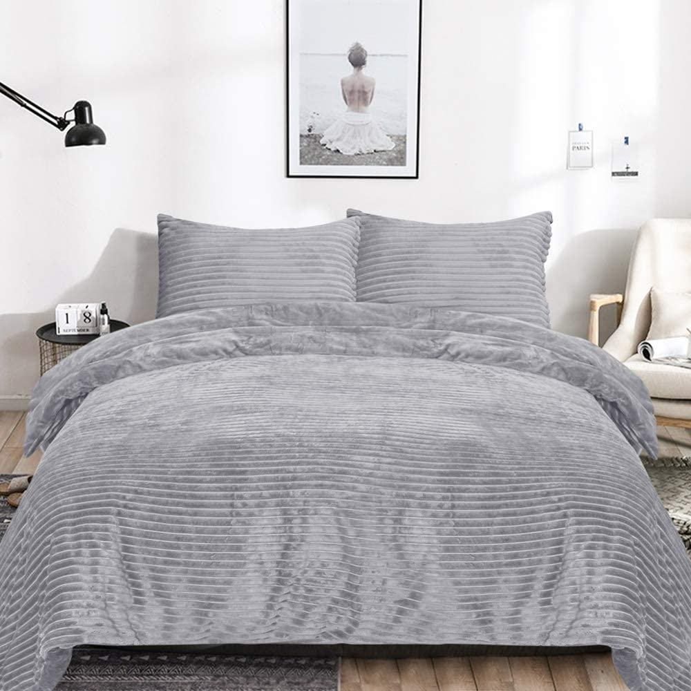 Velvet Reversible Duvet Cover Set 3 Pieces King, $58 @amazon.com