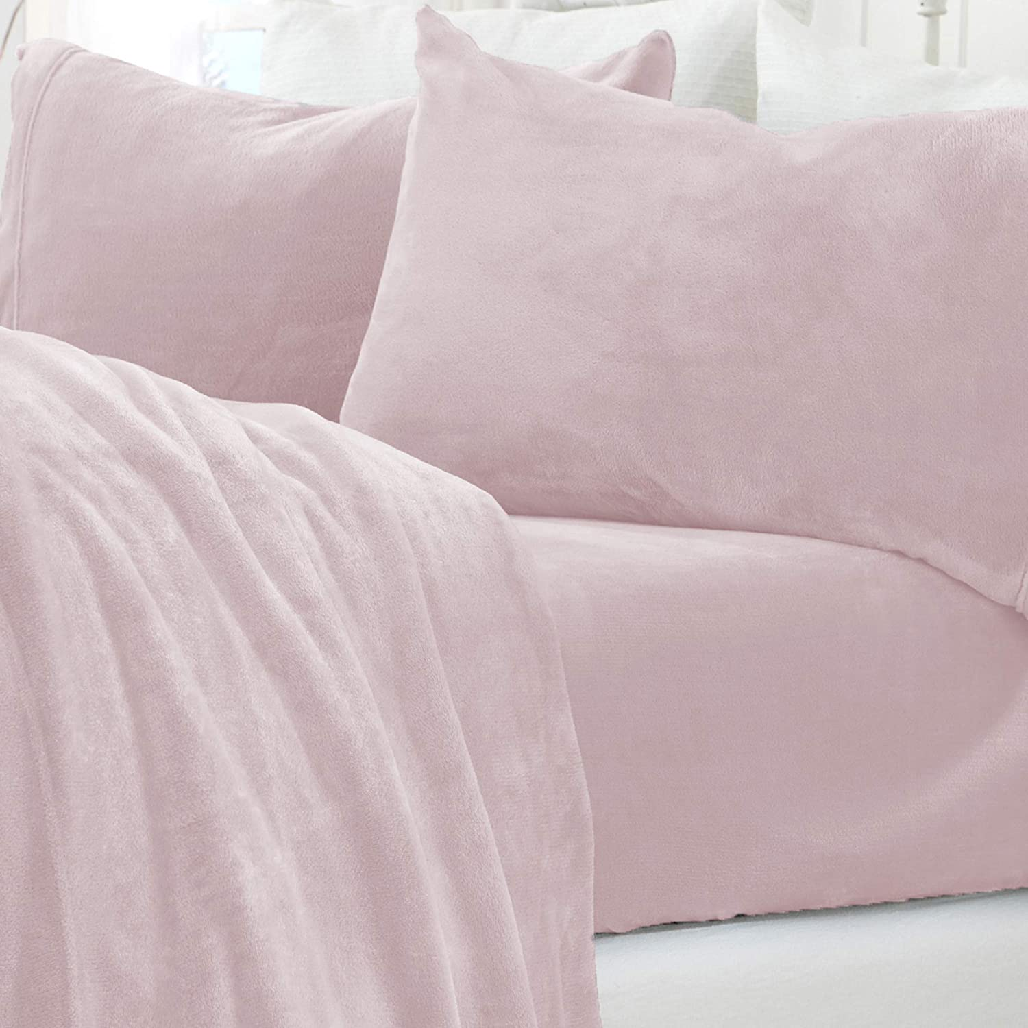 Great Bay Home Extra Soft Cozy Velvet Plush Sheet Set. Deluxe Bed Sheets with Deep Pockets, $44 @amazon.com