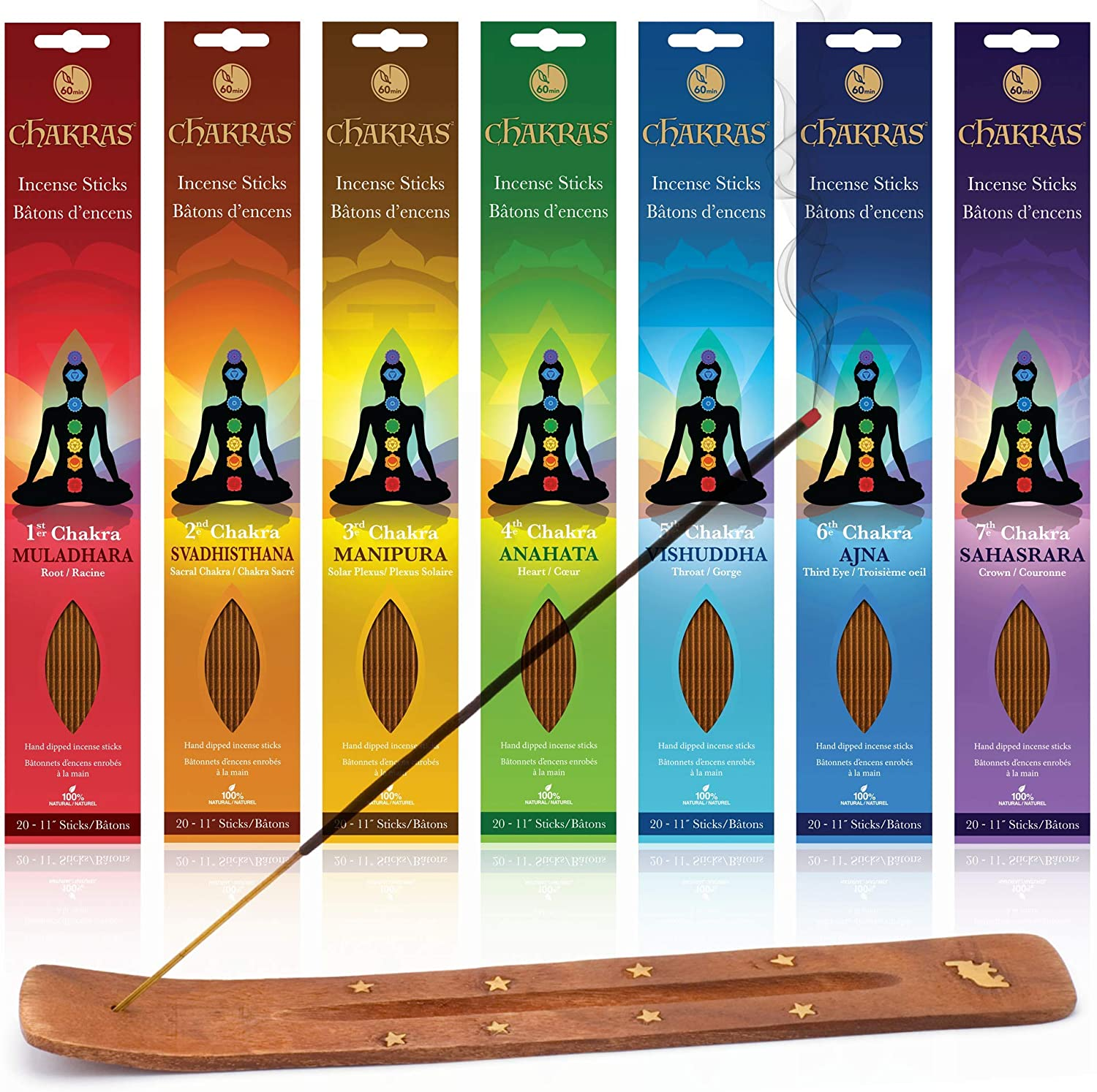 Chakras Incense Sticks, $33 @amazon.com