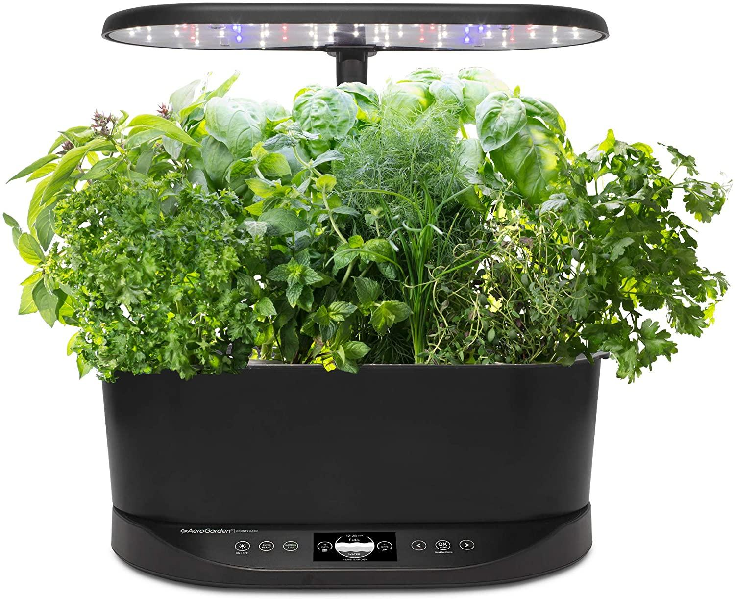 AeroGarden Bounty Basic Indoor Hydroponic Herb Garden, $199 @amazon.com