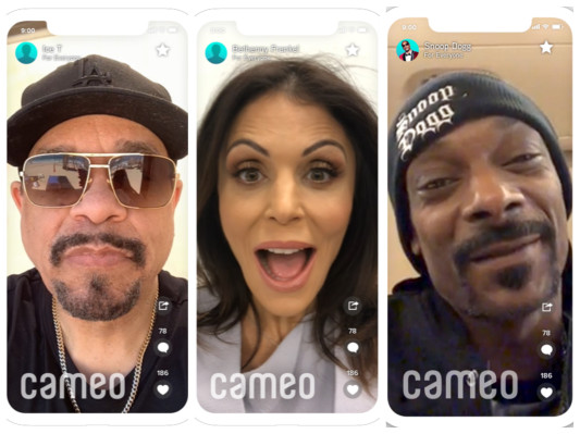 $5 off your first Cameo. Check it out to connect with your favorite celebrity.