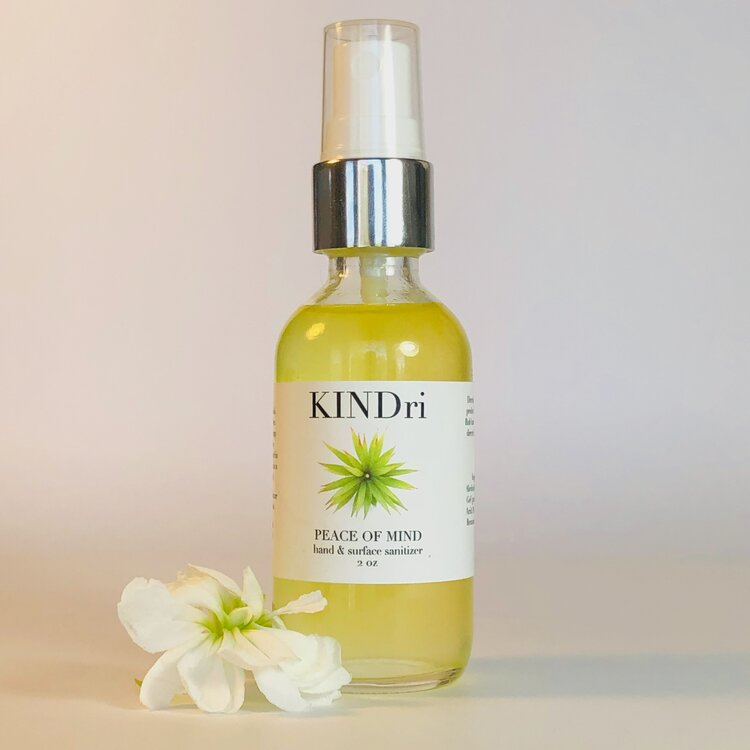 KINDri peace of mind natural hand sanitizer, $11 @kindri.com