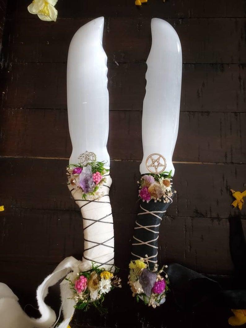 TheWitchNTheGoddess Selenite Healing Crystal, $87 @etsy.com