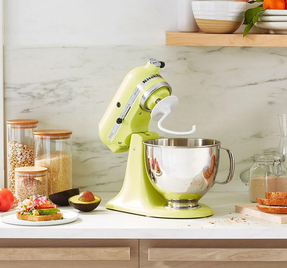 "KitchenAid Artisan Series 5 Quart Tilt-Head Stand Mixer in Kyoto Glow, $380 @kitchenaid.com (Via Real Simple; ""KitchenAid's New Color of the Year Is the Optimistic Hue We All Need Right Now - Meet Kyoto Glow."")"