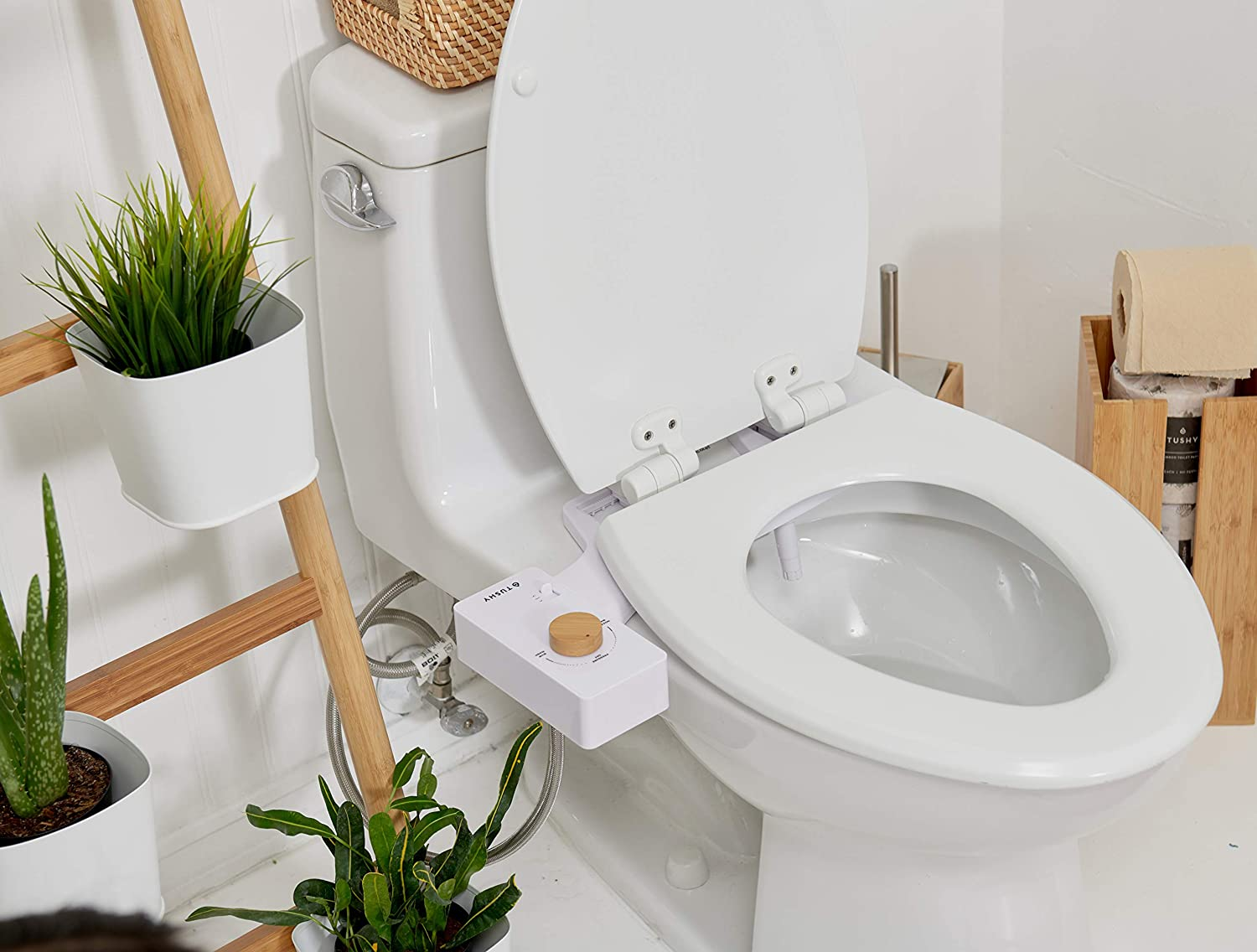 TUSHY Classic Bidet Toilet Attachment – Modern Sleek Design – Fresh Clean Water Sprayer – Non-Electric Self Cleaning Nozzle, $89 @amazon.com