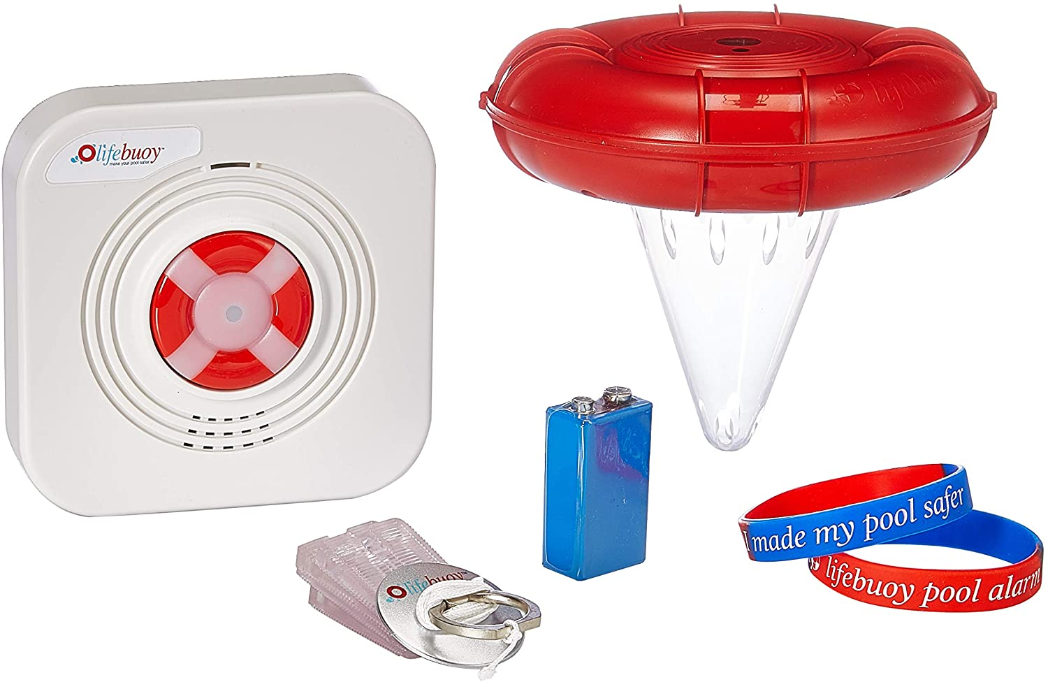 Lifebuoy Pool Alarm System - Pool Motion Sensor - Smart Pool Alarm That is Application Controlled. Powerful Sirens Blare at Poolside and Indoors, $249 @amazon.com
