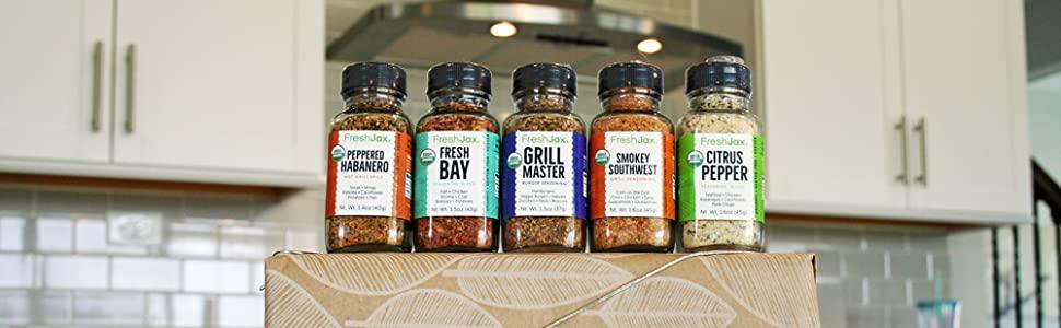 FreshJax Grilling Spice Gift Set, (Set of 5) $24 @amazon.com