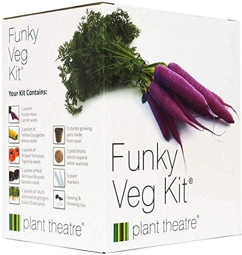 Plant Theatre Funky Veg KIT Gift Box - 5 Extraordinary Vegetables to Grow -Everything You Need to Start Growing in one Box! Super Grow Kit Gift, $26 @amazon.com