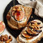 Fig, Walnut, and Vegan Honey Breakfast Tartine
