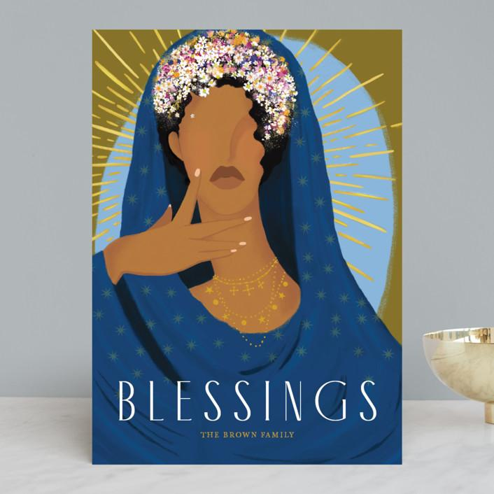 Custom Blessed: Minted x The Met Holiday Cards by Marabou Design, $65 for 25