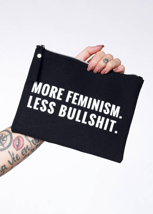 More Feminism, Less BS Pouch, $28 @wildfang.com