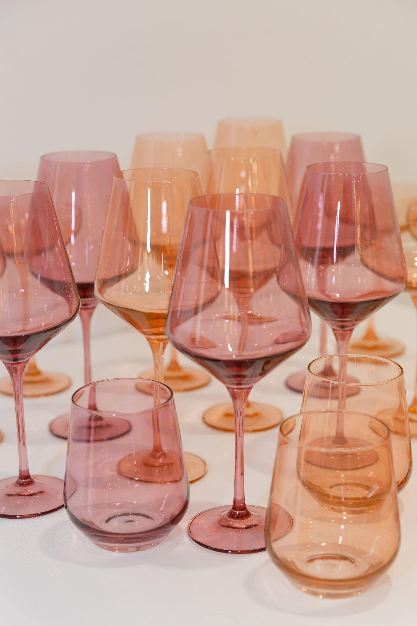 Estelle colored wine stemware - set of 6, $175 @estellecoloredglass.com