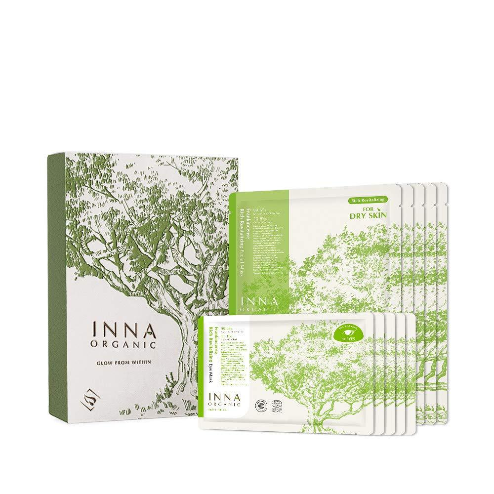 Inna Organic LET IT GLOW Frankincense Revitalizing Sheet Mask Gift Set, $71 @amazon.com