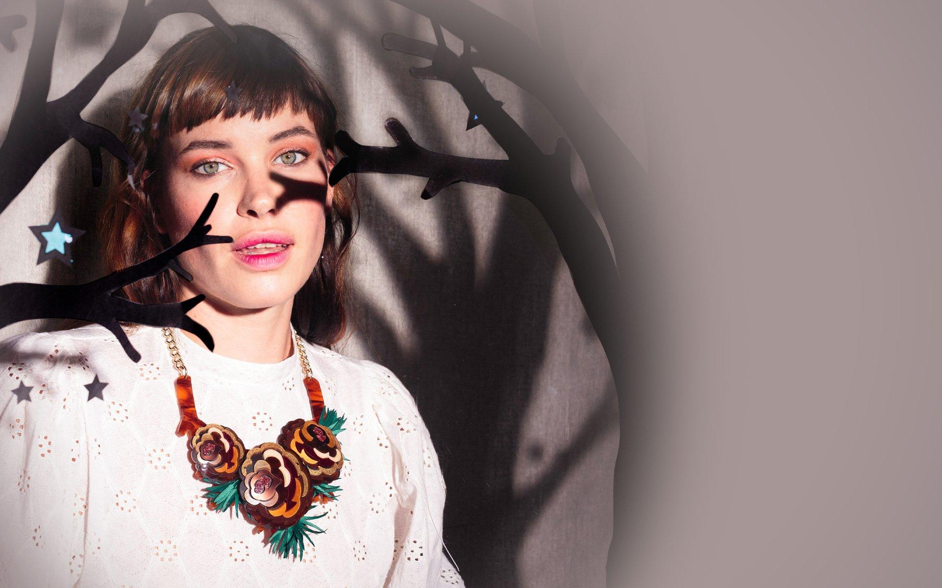 Pine Cone Statement Necklace, $333 @tattydevine.com