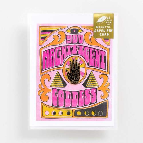 Magnificent Goddess - Lapel Pin Card, $11.50 @yellowowlworkshop.com
