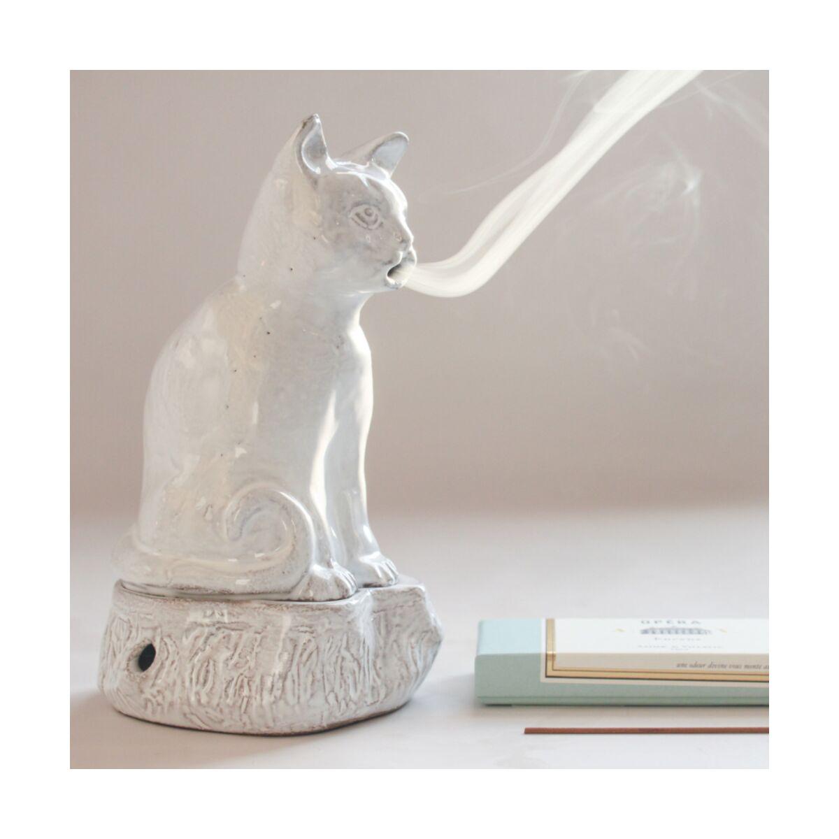 Setsuko Cat Incense Burner Astier de Villatte, $320 @catbirdnyc.com