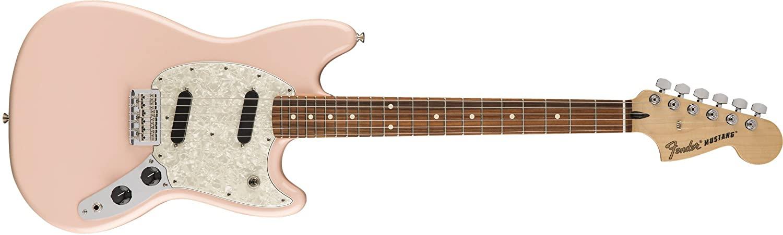 Fender Mustang Electric Guitar (Shell Pink, Pau Ferro Fingerboard), $599 @amazon.com