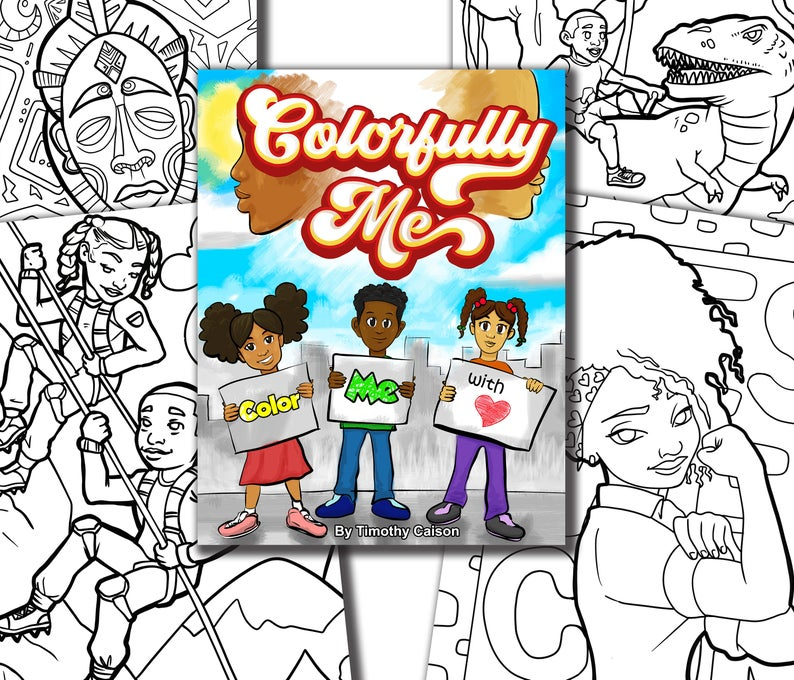 AfrocentricArts Colorfully Me Coloring Book, $9.95 @etsy.com