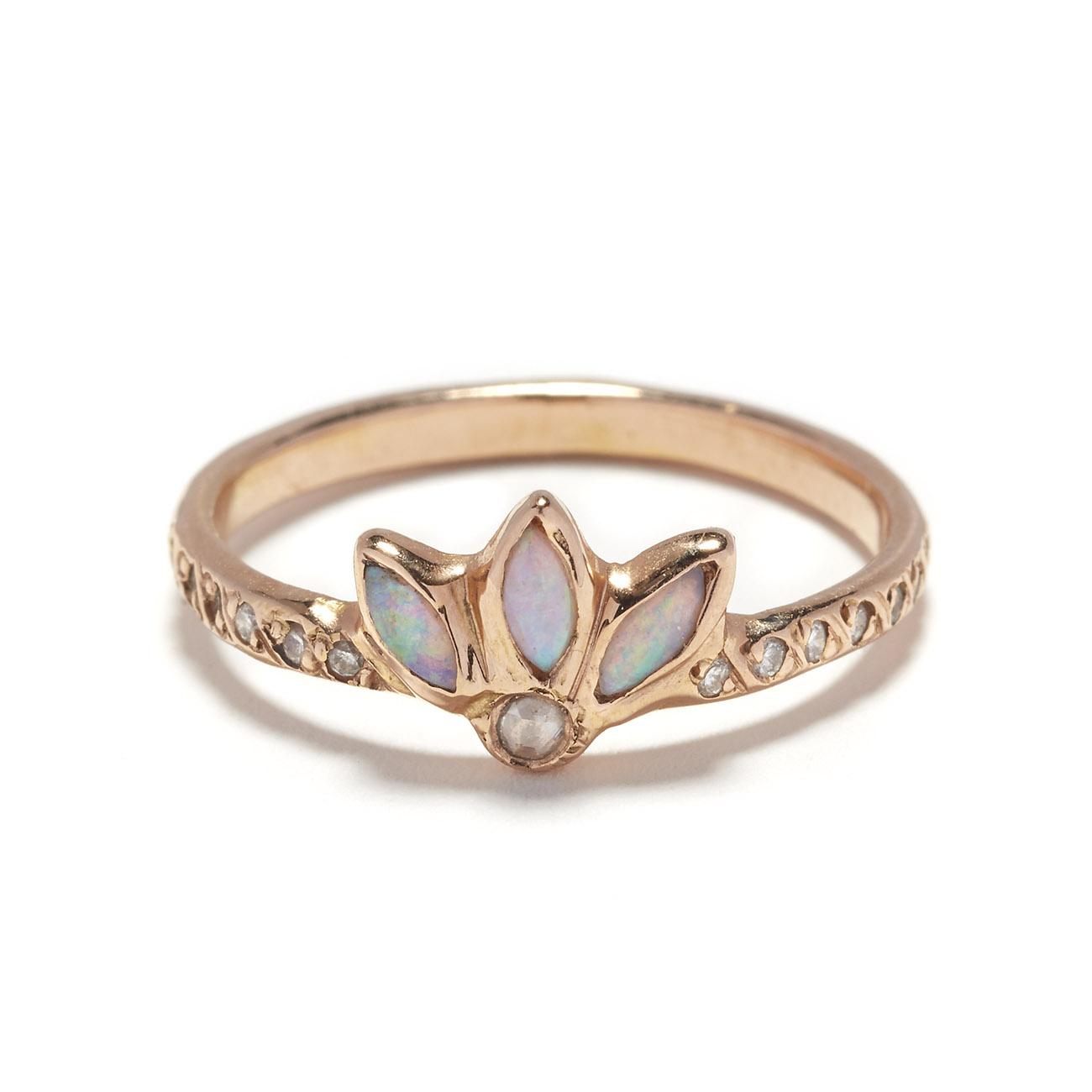 Opal Magic Flower Ring, $1,340 @elisasolomon.com