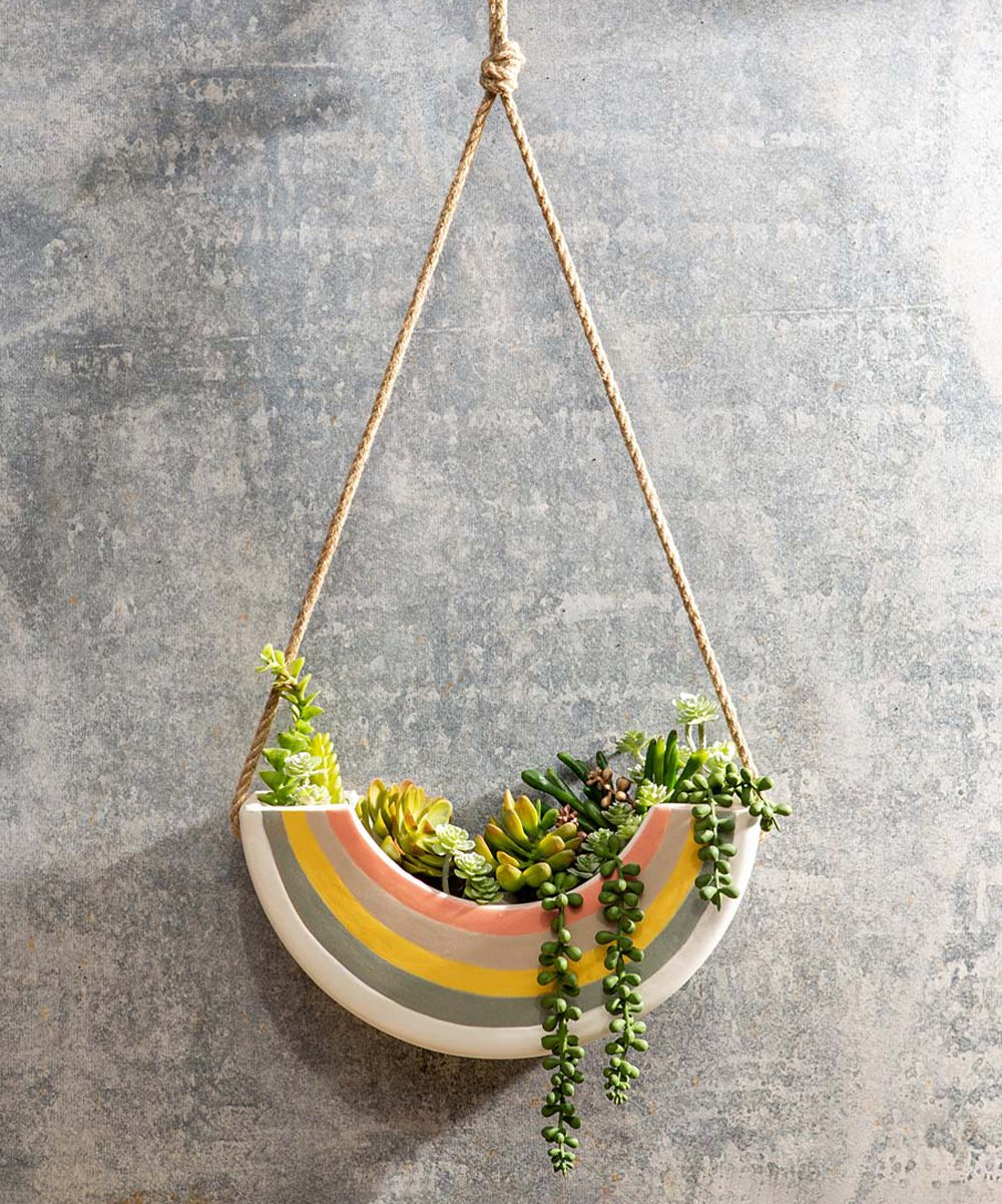 25'' Rainbow Hanging Wall Planter, $54 @zulily.com